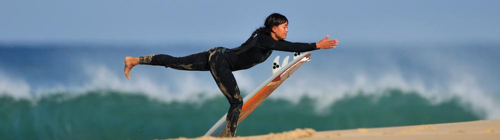 Try the perfect combination of surf and yoga practice at the Natural Surf Lodge