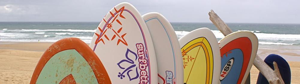 NSP surf boards to rent at the Natural Surf School
